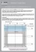 Cellular blind measurement template inside recess