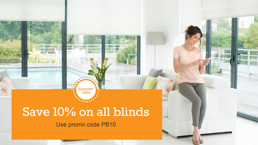 Save 10% on all blinds