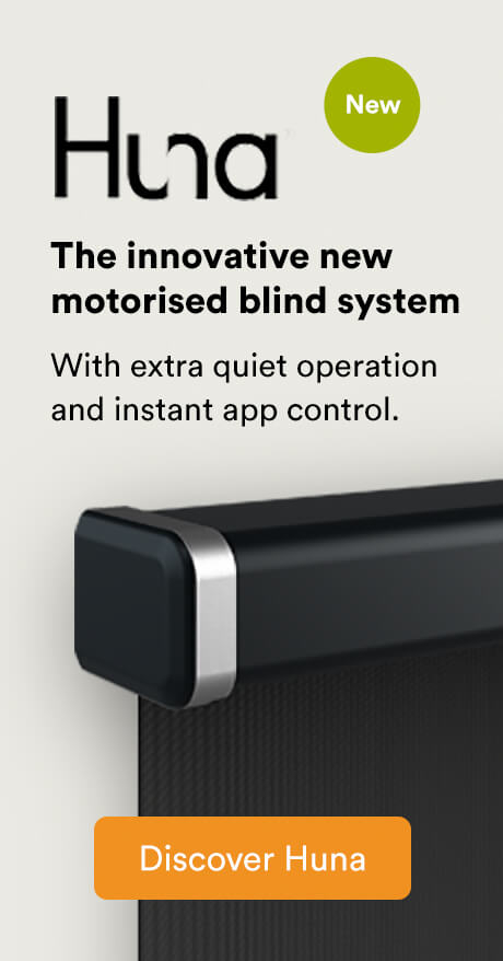 Huna - The innovative new motorised blind system
