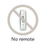 No remote control