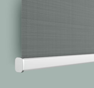 Huna electric blind with aluminium pelmet